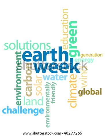 Earth Week Graphic Text Background - stock photo