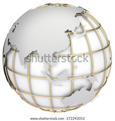 Earth world mapaustralia asia on planet stock illustration 272242052 earth world mapstralia and asia on a planet globe gumiabroncs Images