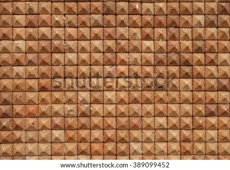 Earthenware wall tiles background