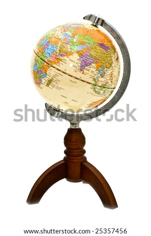 earthly marble with an ax - stock photo