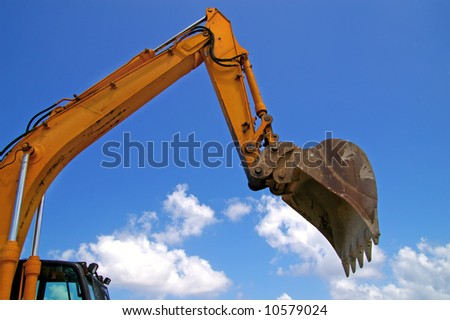 earthmover bucket in action