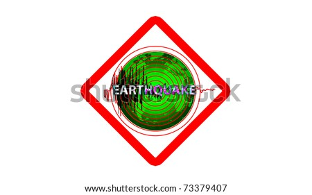 earthquake sign - stock photo