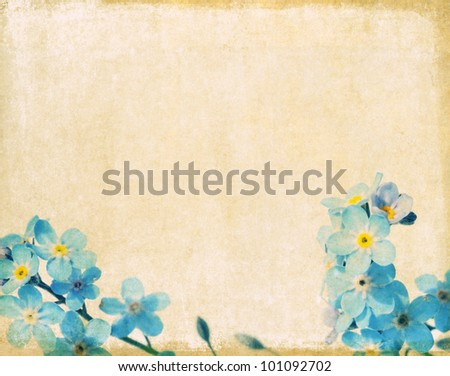 earthy floral background image and useful design element. - stock photo