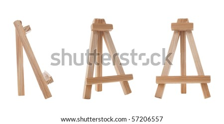 Easel isolated on white background. - stock photo