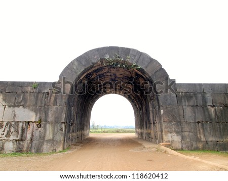 East Gate, Citadel of the Ho Dynasty in Thanh Hoa, Vietnam - a UNESCO World Heritage Site