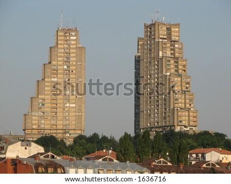 East gate of Belgrade - stock photo