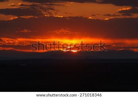 East Idaho Sunset - stock photo