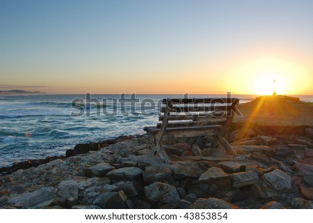 East Pier, sunrise, Port Alfred, Eastern Cape, South Africa