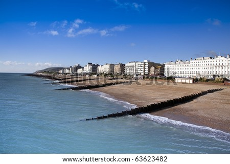 Eastbourne, East Sussex, on the South Coast of England. - stock photo