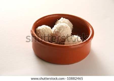 easter almonds - stock photo