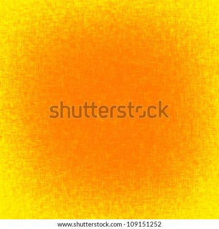 easter background template, orange background with burlap texture and yellow vignette - stock photo
