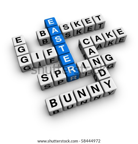 easter  (blue-white cubes crossword series)