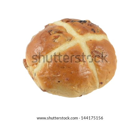 Easter Bun Isolated - stock photo