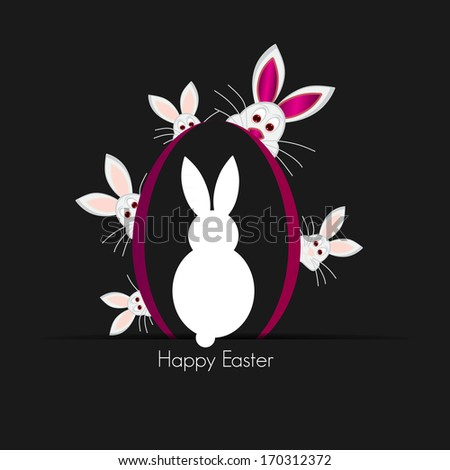 easter bunny, - stock photo