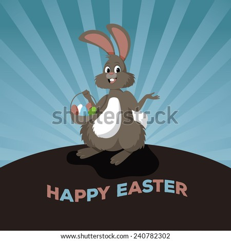 Easter bunny design stock illustration - stock photo