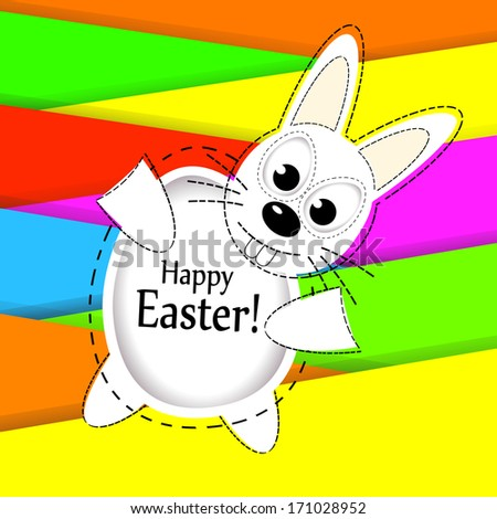 Easter bunny. Happy Easter! Raster - stock photo