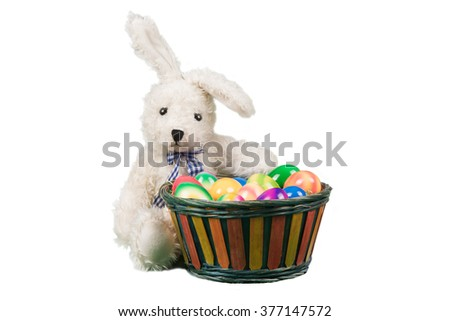 easter bunny with easter basket