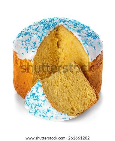 Easter cake isolated on white background - stock photo