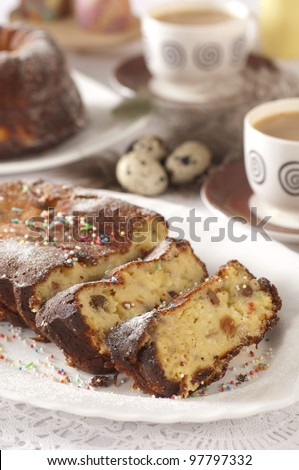 Easter cake with cottage cheese - stock photo