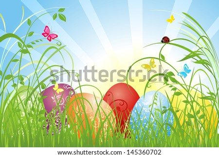 Easter card. Raster copy of vector image - stock photo