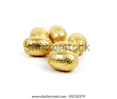 Easter chocolate eggs - stock photo