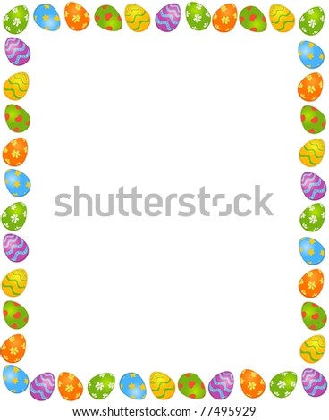 Easter colored egg. Easter card - stock photo