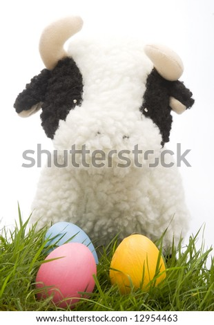 Easter Cow - stock photo
