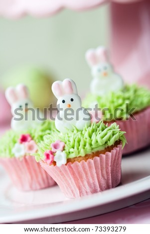 Easter cupcakes - stock photo