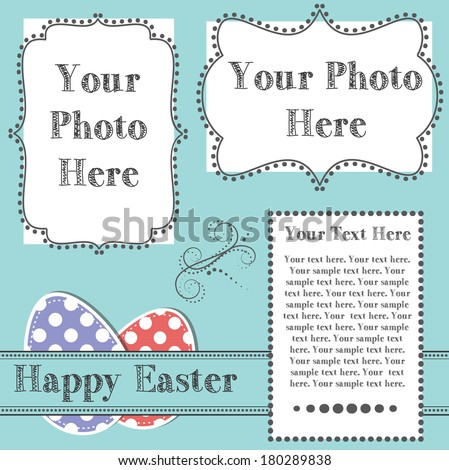easter design template two 4 x 6 transparent stock illustration
