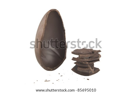 Easter egg close up on white - stock photo