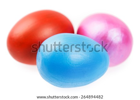 Easter egg Isolated on white background