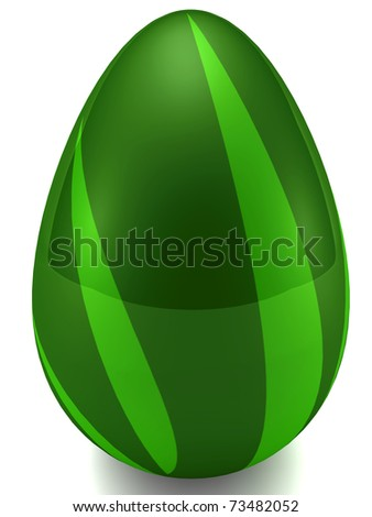 Easter egg isolated on white. 3D render - stock photo