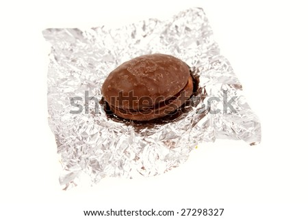 Easter egg on foil