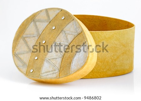 Easter egg shaped paper gift box stock photo 9486802 shutterstock easter egg shaped paper gift box negle Images