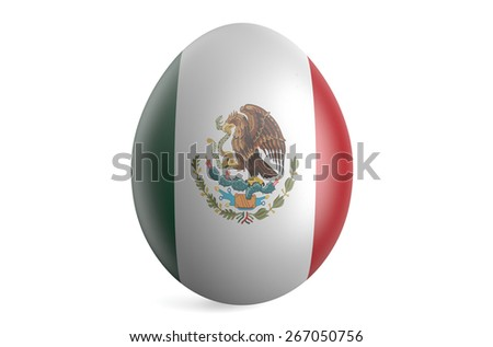 Easter egg with the flag of the Mexico isolated on white background - stock photo