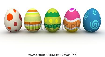 Easter Eggs - stock photo
