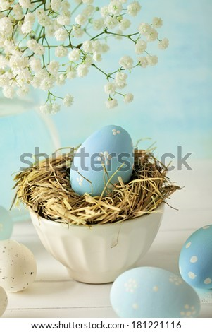 easter eggs decoration - stock photo