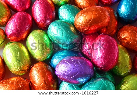 Easter Eggs Galore - stock photo