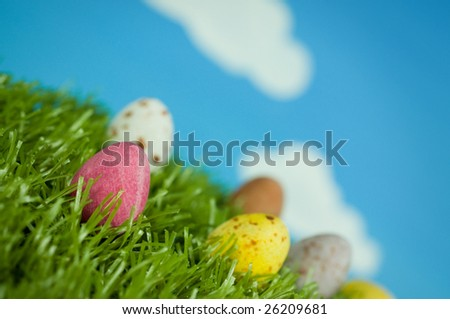 Easter Eggs on a spring day.