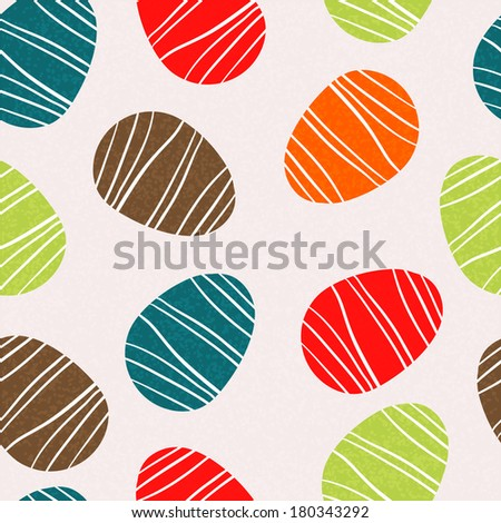 Easter eggs seamless pattern. Holiday background texture - raster version