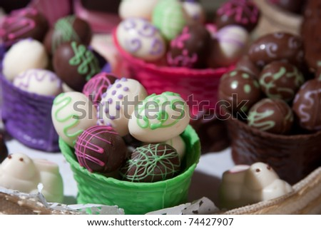 Easter eggs set for sale - stock photo