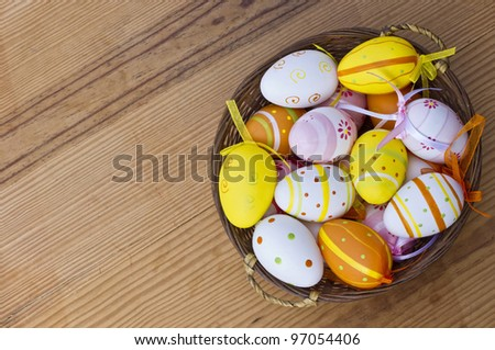 Easter eggs with great light and amazing colors