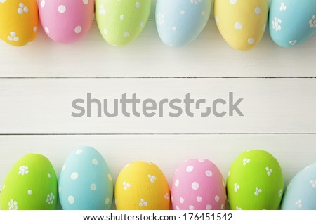 easter frame background - stock photo