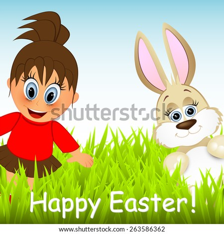 Easter greeting card  - stock photo