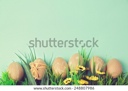Easter holiday background with retro filter effect - stock photo