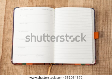 Easter 2016 in the German diary - stock photo