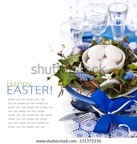 Easter Place Setting - stock photo