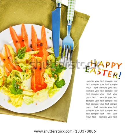 Easter Salad for Kids - stock photo
