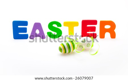 easter sign with eggs