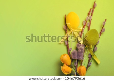 Easter spring composition.